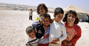 Children at the Zaatari Refuge camp. Photo courtesy of Foreign Commonwealth Office/Flikr