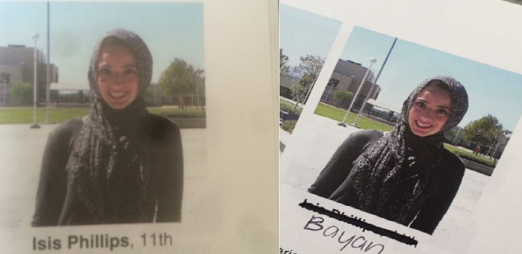 Labeled Isis in School Yearbook